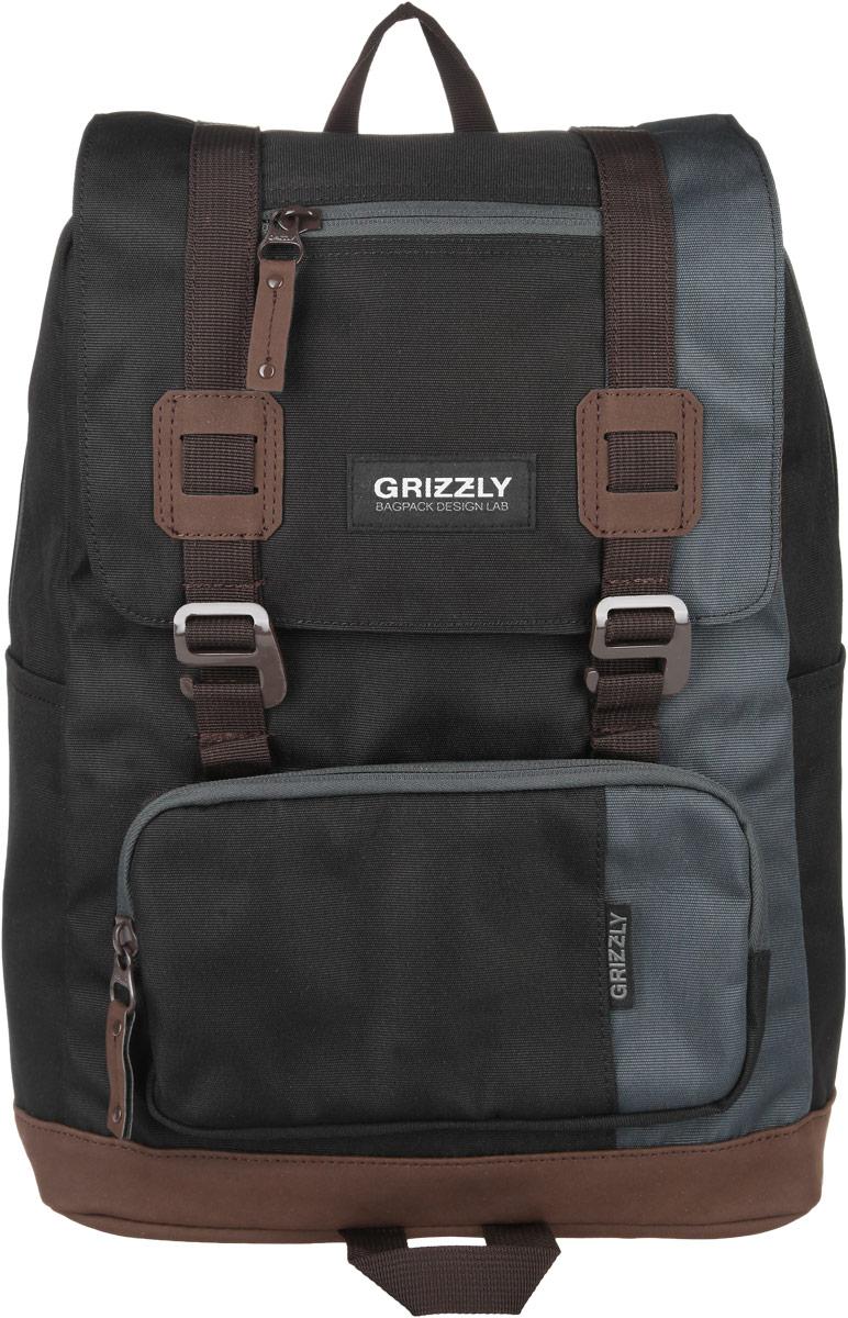Рюкзак городской Grizzly, цвет: черный, 23 л. RU-619-2/4RU-619-2/4Стильный городской рюкзак Grizzly выполнен из таслана, оформлен нашивкой с символикой бренда. Рюкзак содержит одно вместительное отделение, которое закрывается на молнию и дополнительно клапаном на пластиковые пряжки. Внутри расположены: врезной карман на молнии и мягкий накладной карман на липучке, предназначенный для переноски планшета или небольшого ноутбука. Снаружи, по бокам изделия, расположены два накладных кармана. Клапан дополнен врезной карман на молнии. На лицевой стороне расположен объемный накладной карман на молнии. Задняя сторона рюкзака дополнена потайным карманом на молнии. Рюкзак оснащен петлей для подвешивания, двумя практичными лямками регулируемой длины. Практичный рюкзак станет незаменимым аксессуаром, который вместит в себя все необходимое.