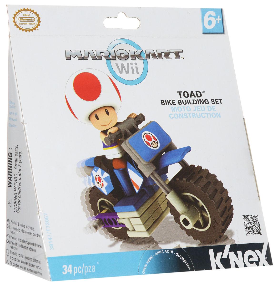 Knex Конструктор Транспорт Mario цвет синий1134422_синийКонструктор Knex Транспорт Mario понравится всем поклонникам видеоигры от компании Nintendo. Все элементы выполнены из прочного и безопасного материала. В комплект входят 34 элемента конструктора, включая фигурку любимого героя. С помощью деталей конструктора ребенок сможет собрать мотоцикл и фигурку. Ваш ребенок будет часами играть с этим конструктором и фигуркой, придумывая различные истории.