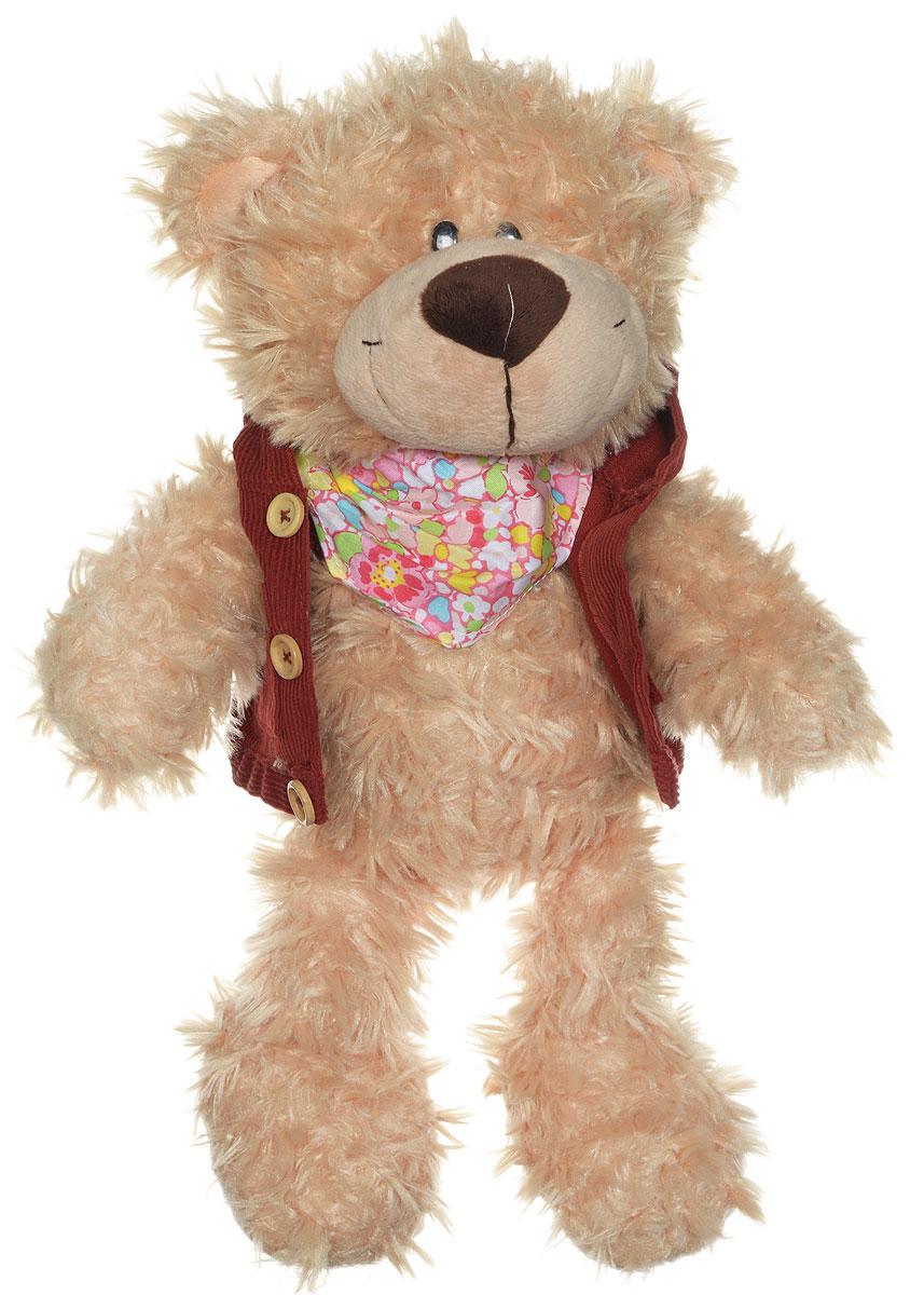 Sonata Style Мягкая игрушка Медведь Модный 25 смMA5264,25A,BСимпатичная мягкая игрушка Медведь Модный, выполненная из текстиля с элементами пластика, не оставит равнодушным ни ребенка, ни взрослого и вызовет улыбку у каждого, кто ее увидит. Необычайно мягкая, она принесет радость и подарит своему обладателю мгновения нежных объятий и приятных воспоминаний. Оригинальный дизайн, европейский стиль и великолепное качество исполнения делают эту игрушку чудесным подарком к любому празднику, а жизнерадостный образ представит такой подарок в самом лучшем свете. Медвежонок ярко одет, а на пяточках больших лап у него - вышитые красные сердечки. Мишка станет добрым напоминанием о близком человеке, если посадить игрушку на рабочий стол или полочку книжного шкафа.