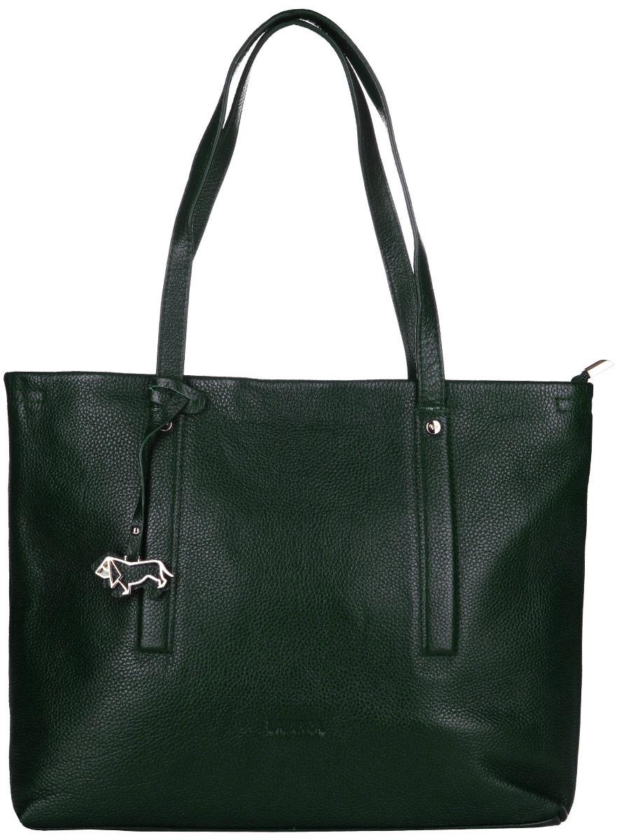 Сумка женская Labbra, цвет: темно-зеленый. L-1782-1L-1782-1Стильная сумка Labbra изготовлена из натуральной кожи с зернистой фактурой, оформлена декоративной подвеской. Изделие содержит одно основное отделение, закрывающееся застежку-молнию. Внутри расположены два накладных кармашка для мелочей, врезной карман на молнии и карман-средник на молнии. Задняя сторона сумки дополнена врезным карманом на молнии. Изделие оснащено двумя практичными ручками. Дно изделия дополнено металлическими ножками. Оригинальный аксессуар позволит вам завершить образ и быть неотразимой.