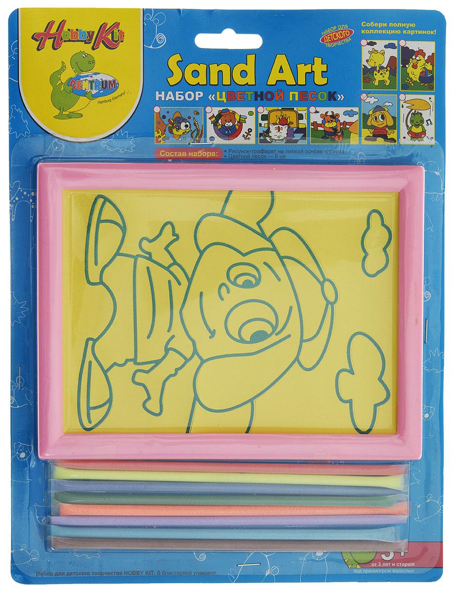 Centrum Набор для создания картины из цветного песка Собачка цвет рамки розовый82457_розовый/собачкаНабор для создания картины из цветного песка Centrum Собачка непременно понравится вашему малышу. С его помощью ребенок сможет своими руками создать необычную картину из цветного песка с изображением озорной собачки. В набор уже входит все необходимое для творчества: картинка-трафарет в пластиковой рамке и цветной песок 8 цветов. Создать картину из цветного песка совсем несложно - на основу нанесен контур рисунка. Постепенно снимайте защитный слой с трафарета и засыпайте цветной песок нужного цвета на клейкую поверхность. Затем подождите, пока песок высохнет - и картина из цветного песка готова! Простой и увлекательный процесс создания картины подарит вашему малышу массу удовольствия и поможет развить мелкую моторику рук, аккуратность, творческое мышление и художественный вкус. Готовая картина из цветного песка станет предметом гордости ребенка, она украсит интерьер детской комнаты, а также станет прекрасным подарком на любой праздник.