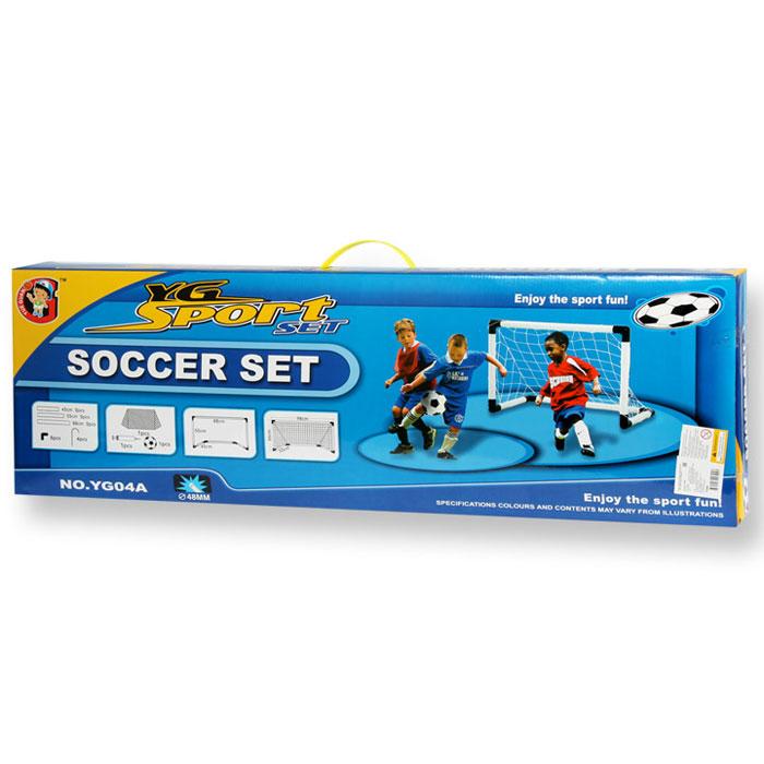 YG Sport Детская игра ФутболYG04AТолько представьте - совё собственное футбольное поле, которое можно устанавливать там, где вам захочется! Теперь вам не придётся искать ворота, чтобы поиграть в футбол, ведь в набореФутбол от торговой марки YG Sport есть всё необходимое.