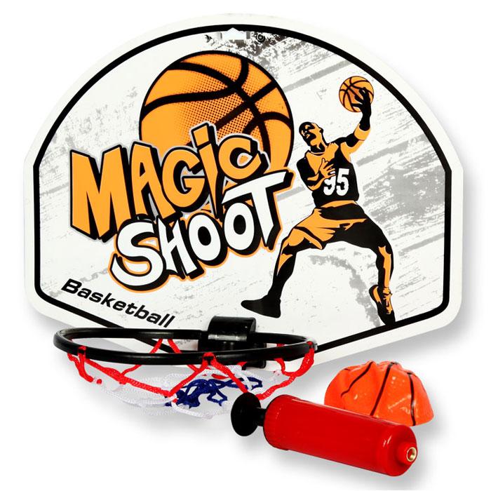 YG Sport Детская игра Баскетбол щит с кольцом 37 х 28 смYG20CДля начала активных игр на свежем воздухе необходимо установить щит-кольцо и накачать баскетбольный мячик. В комплектацию набора входят: щит с кольцом, насос и мяч. Игровой набор предназначен для игры в баскетбол в домашних условиях или во дворе. Новое игровое приобретение надолго увлечет детское внимание и развивает координацию и моторику движений, ловкость, меткость и внимательность. Все составляющие набора выполнены из прочного и качественного материала, выполнены в яркой цветовой гамме.