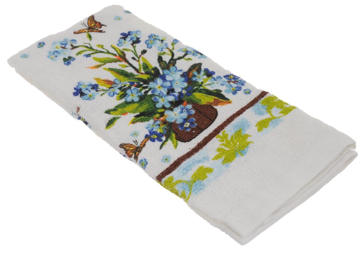 Полотенце кухонное Home Queen Незабудки, 38 х 64 см53498_незабудкиКухонное полотенце Home Queen Незабудки, выполненное из 100% хлопка, оформлено ярким рисунком. Изделие предназначено для использования на кухне и в столовой. Такое полотенце станет отличным вариантом для практичной и современной хозяйки.