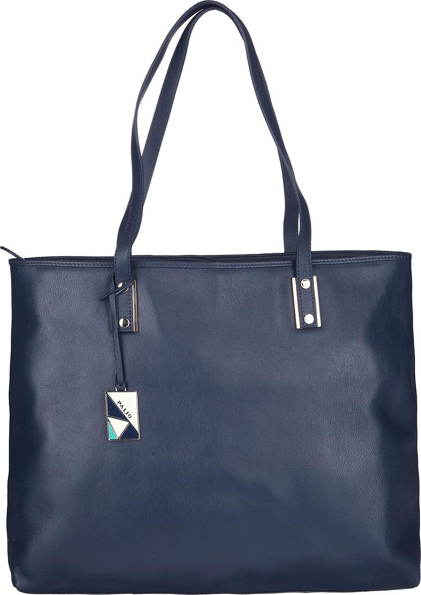 Сумка женская Palio, цвет: синий. 13342A13342AСтильная сумка Palio, изготовлена из натуральной кожи с зернистой фактурой, оформлена металлической фурнитурой и подвеской с символикой бренда. Изделие содержит одно отделение, которое закрывается на застежку-молнию. Внутри изделия расположены два накладных кармашка для мелочей, врезной карман на молнии. Изделие оснащено двумя практичными ручками. Задняя сторона сумки дополнена врезным карманом на молнии. Дно сумки дополнено металлическими ножками, которые защитят изделие от преждевременного изнашивания. Оригинальный аксессуар позволит вам завершить образ и быть неотразимой.
