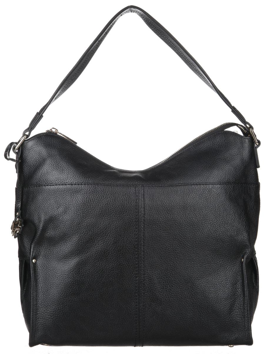 Сумка женская Labbra, цвет: черный. L-DA81138L-DA81138Стильная сумка Labbra, изготовлена из натуральной кожи с зернистой фактурой, оформлена оригинальной подвеской. Изделие содержит одно отделение, которое закрывается на застежку-молнию. Внутри изделия расположены два накладных кармашка для мелочей, врезной карман на молнии. Задняя сторона изделия дополнена врезным карманом на молнии. Изделие оснащено широкой лямкой, которая позволит носить сумку, как в руках, так и на плече. На дне сумки размещены металлические ножки, которые защитят дно от преждевременного изнашивания. Оригинальный аксессуар позволит вам завершить образ и быть неотразимой.