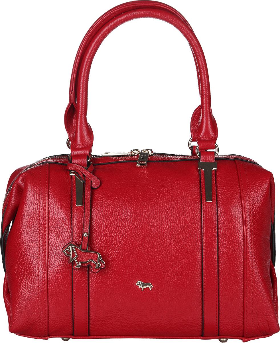 Сумка женская Labbra, цвет: красный. L-1706-1L-1706-1Стильная сумка Labbra, изготовлена из натуральной кожи с зернистой фактурой, оформлена металлической фурнитурой с символикой бренда. Изделие содержит одно отделение, которое закрывается на застежку-молнию. Внутри изделия расположены два накладных кармашка для мелочей, врезной карман на молнии и карман-средник на молнии. Задняя сторона сумки дополнена врезным карманом на молнии. Изделие оснащено двумя практичными ручками. Дно сумки дополнено металлическими ножками, которые защитят изделие от преждевременного изнашивания. Оригинальный аксессуар позволит вам завершить образ и быть неотразимой.