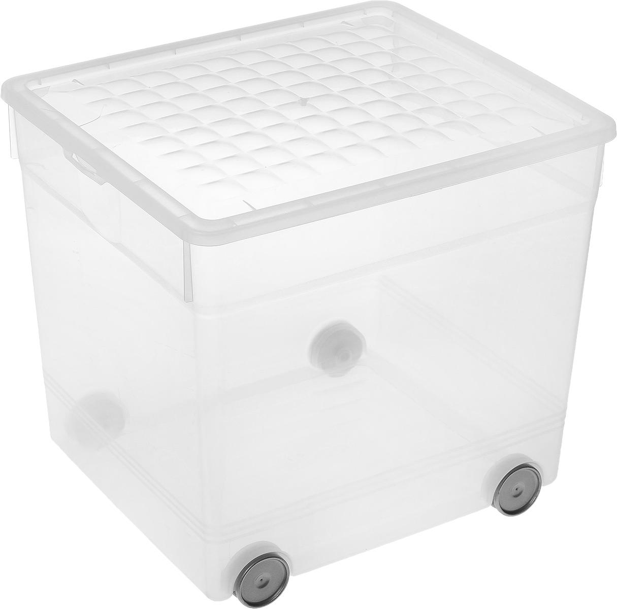 Контейнер для хранения Curver, на колесиках, 33 л03001-346-01Контейнер для хранения Curver изготовлен из прозрачного пластика. Изделие предназначено для хранения различных бытовых вещей, игрушек, одежды и многого другого. Контейнер оснащен четырьмя колесиками и откидной крышкой, которая закрывается на две защелки. Размер контейнера: 34,5 х 30 х 34 см.