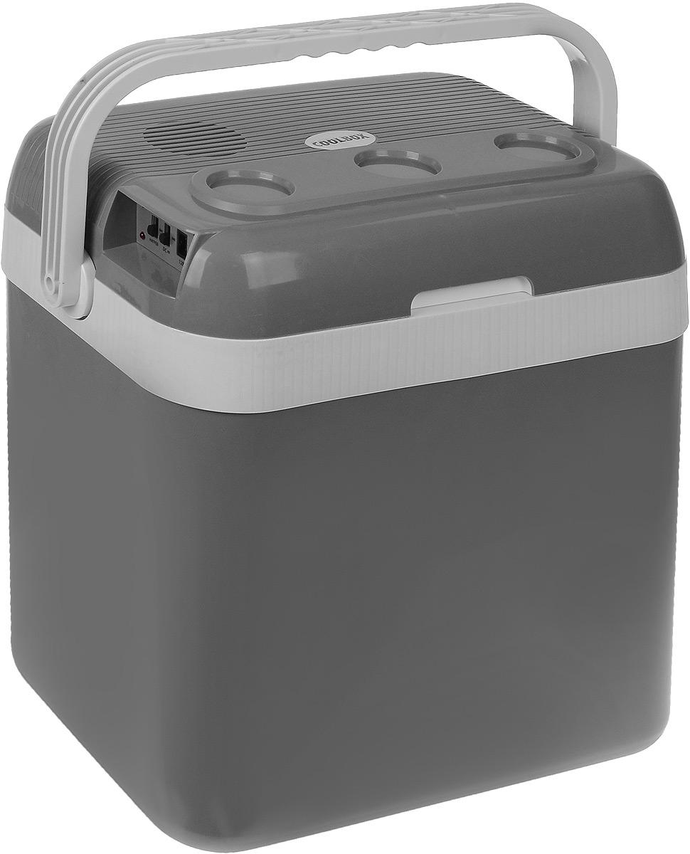 Холодильник автомобильный AVS CC-32B, 32 л43440Автомобильный холодильник AVS CC-32В - это незаменимый аксессуар для всех автомобилистов, которые долгое время проводят в дороге. Изделие позволяет сохранить продукты и напитки, которые вы собираетесь взять в дальнюю поездку. Холодильник изготовлен из высокопрочной пластмассы. Вся изоляция выполнена из экологически чистых материалов. Устройство холодильника позволяет переключаться в режим нагрева с увеличением температуры внутри камеры до 65°С. Работает без компрессора и имеет встроенный контроль за состоянием аккумулятора автомобиля. Плотно прилегающая и фиксируемая крышка позволяет использовать холодильник с наибольшим КПД. Для наилучшего рекомендуется использовать аккумуляторы холода AVS. Питание: 220 В/12 В. Мощность в режиме охлаждения: 48 Вт. Мощность в режиме нагрева: 36 Вт. Емкость: 32 л. Принцип работы по эффекту Пельтье. Максимальное охлаждение: 15-18°С от температуры окружающей среды. Максимальный нагрев: до 65°С. ...