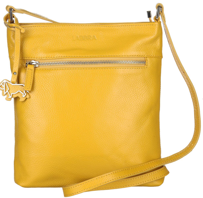 Сумка женская Labbra, цвет: желтый. L-A80357L-A80357Стильная сумка Labbra изготовлена из натуральной кожи с зернистой фактурой, оформлена декоративной подвеской. Изделие содержит одно основное отделение, закрывающееся застежку-молнию. Внутри расположены четыре накладных кармашка для мелочей, один из которых закрывается на молнию, врезной карман на молнии. Задняя и лицевая стороны сумки дополнены врезными карманами, каждый из которых закрывается на молнию. Изделие оснащено плечевым ремнем регулируемой длины. Оригинальный аксессуар позволит вам завершить образ и быть неотразимой.