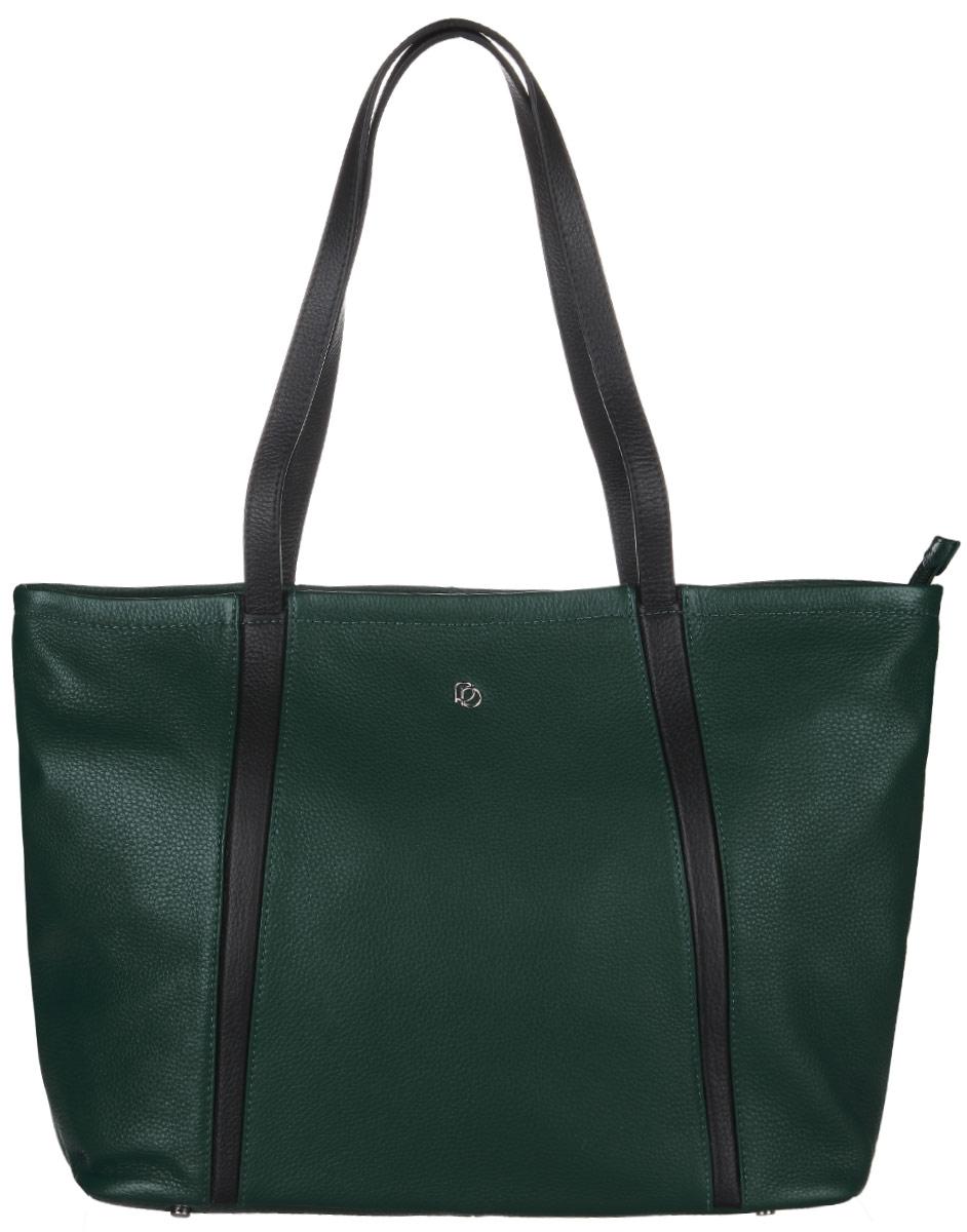 Сумка женская Pimobetti, цвет: темно-зеленый, черный. 13539B4-W413539B4-W4Стильная сумка Pimobetti изготовлена из натуральной кожи с зернистой фактурой, оформлена металлической фурнитурой. Изделие содержит одно основное отделение, закрывающееся застежку-молнию. Внутри расположены три накладных кармашка для мелочей, один из которых закрывается на молнию, врезной карман на молнии. Задняя сторона сумки дополнена врезным карманом на молнии. Изделие оснащено двумя практичными ручками. Дно изделия дополнено металлическими ножками. Оригинальный аксессуар позволит вам завершить образ и быть неотразимой.