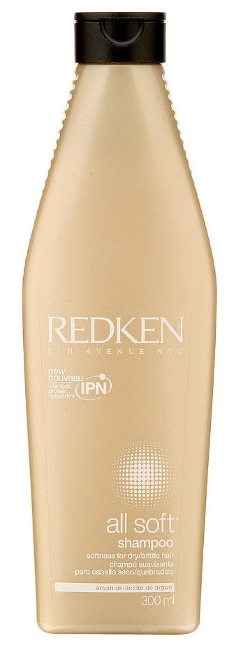 Redken Шампунь All Soft 300млP0424800Шампунь смягчает сухие и ломкие волосы. Насыщенная формула мягко очищает волосы, делая их мягкими и гладкими.
