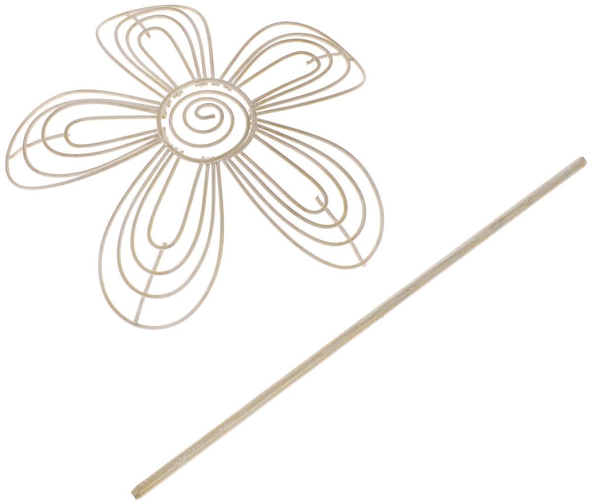 Заколка для штор Мир Мануфактуры, цвет: белый, золотистый697018_6 белый/золотоЗаколка для штор Мир Мануфактуры выполнена из металла в виде цветка. Заколка - это основной вид фурнитуры в декоре штор, сочетающий в себе не только декоративную функцию, но и практическую - регулировать поток света. Заколки для штор способны украсить любую комнату. Размер декоративной части: 16 х 16,3 см. Длина палочки: 23 см.