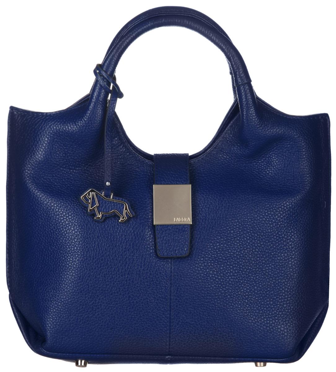 Сумка женская Labbra, цвет: синий. L-DL90391-1L-DL90391-1Стильная сумка Labbra изготовлена из натуральной кожи с зернистой фактурой, оформлена декоративной подвеской. Изделие содержит одно основное отделение, закрывающееся застежку-молнию и дополнительно хлястиком на магнитную кнопку. Внутри расположены четыре накладных кармашка для мелочей, один из которых закрывается на молнию, врезной карман на молнии. Задняя сторона сумки дополнена врезным карманом на молнии. Изделие оснащено двумя практичными ручками и съемным плечевым ремнем регулируемой длины. Дно изделия дополнено металлическими ножками. Оригинальный аксессуар позволит вам завершить образ и быть неотразимой.