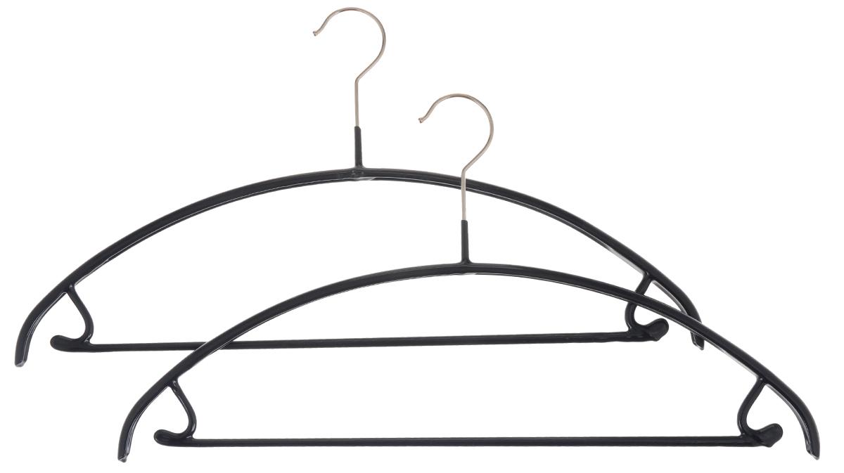 Вешалка для одежды Cosatto, с перекладиной и крючками, цвет: синий, 2 штCOVLPA3612_синийНабор Cosatto состоит из 2 вешалок, изготовленных из металла с антискользящим полипропиленовым покрытием. Изделия оснащены перекладиной и боковыми крючками. Вешалка - это незаменимая вещь для того, чтобы ваша одежда всегда оставалась в хорошем состоянии. Комплектация: 2 шт.