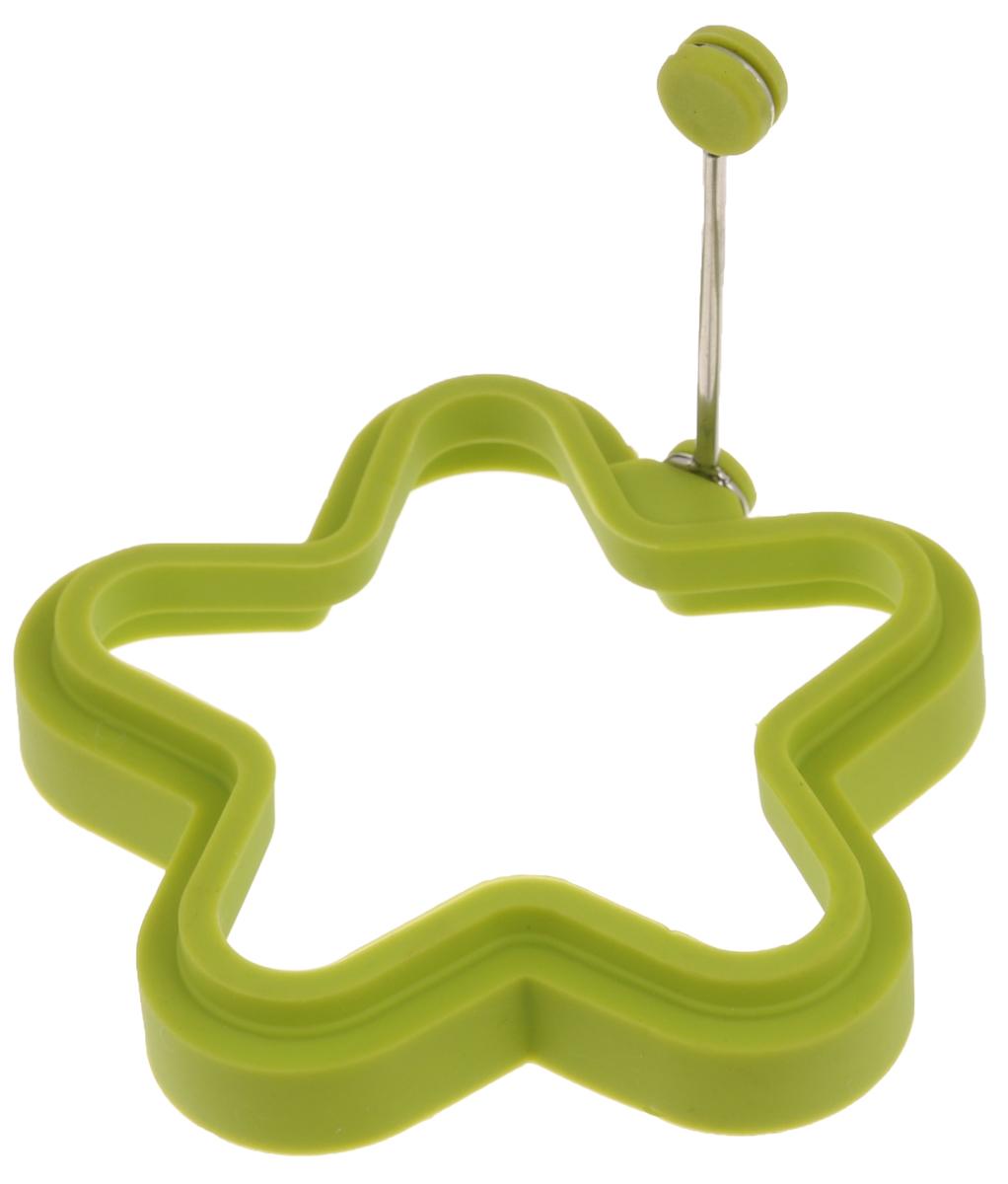 Форма для яичницы Mayer & Boch Звезда, цвет: зеленый24191_зеленыйФорма Mayer & Boch Звезда изготовлена из силикона. Она предназначена для приготовления яичницы, выпекания блинов необычной формы и других блюд. Необходимо просто залить приготавливаемую массу внутрь формочки, расположенной на сковородке, и подождать, пока блюдо не дойдет до нужной кондиции. Благодаря такой формочке, вы привнесете немного оригинальности и разнообразия в свой повседневный завтрак. Можно мыть в посудомоечной машине. Размер: 11,5 х 11,5 х 2,2 см.