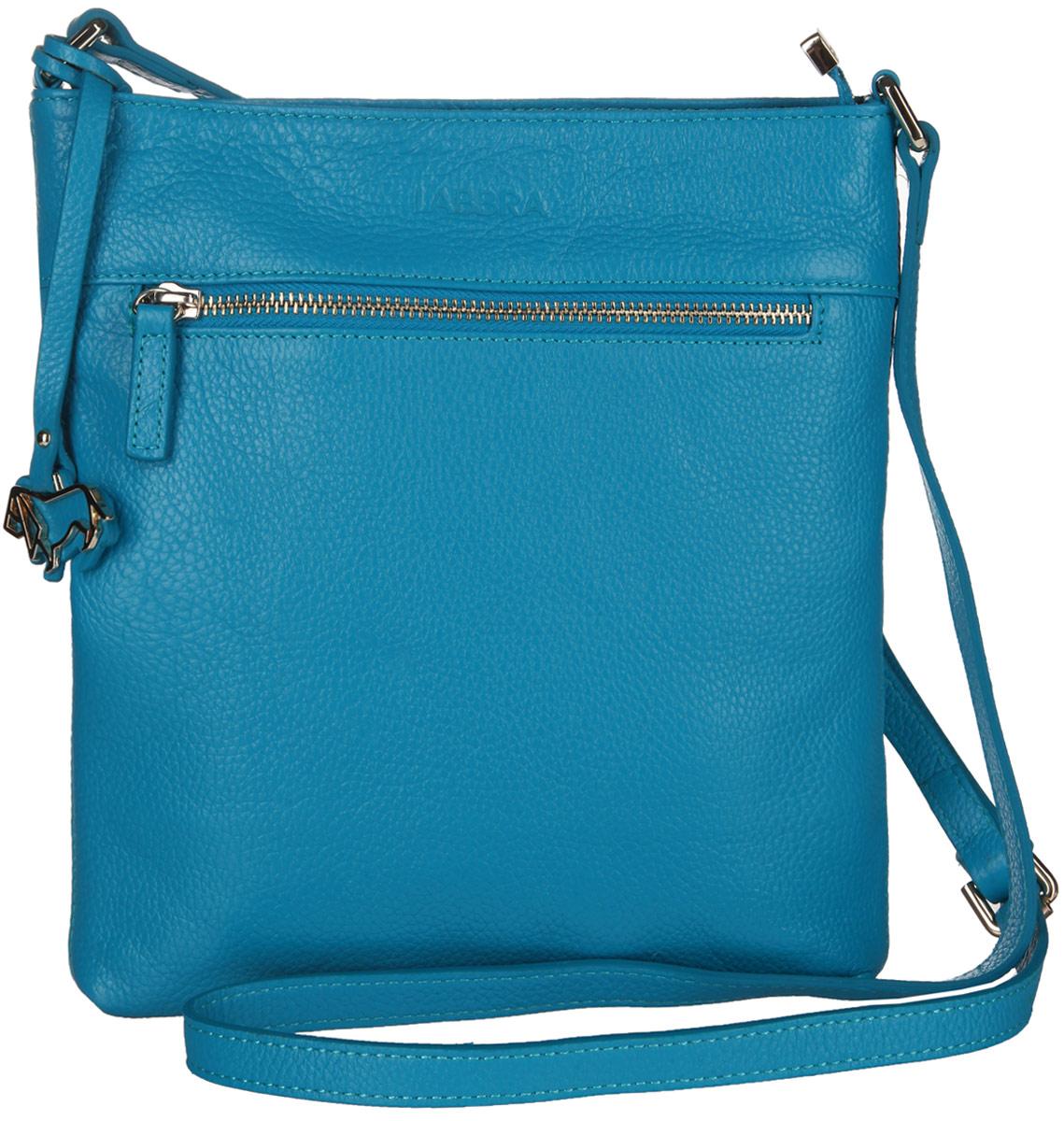 Сумка женская Labbra, цвет: бирюзовый. L-A80357L-A80357Стильная сумка Labbra изготовлена из натуральной кожи с зернистой фактурой, оформлена декоративной подвеской. Изделие содержит одно основное отделение, закрывающееся застежку-молнию. Внутри расположены четыре накладных кармашка для мелочей, один из которых закрывается на молнию, врезной карман на молнии. Задняя и лицевая стороны сумки дополнены врезными карманами, каждый из которых закрывается на молнию. Изделие оснащено плечевым ремнем регулируемой длины. Оригинальный аксессуар позволит вам завершить образ и быть неотразимой.