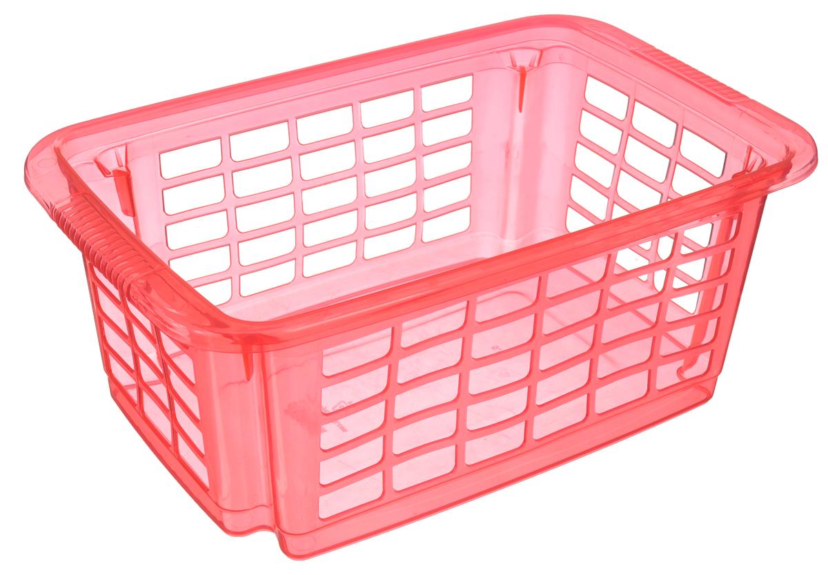 Корзина для хранения Dunya Plastik Стакер, цвет: розовый, 31 х 20 х 12,5 см5516_розовыйКлассическая корзина Dunya Plastik Стакер, изготовленная из пластика, предназначена для хранения мелочей в ванной, на кухне, даче или гараже. Позволяет хранить мелкие вещи, исключая возможность их потери. Это легкая корзина со сплошным дном, жесткой кромкой, с небольшими отверстиями на стенках. Корзина имеет специальные выемки внизу и вверху, позволяющие устанавливать корзины друг на друга. Объем: 5,5 л.