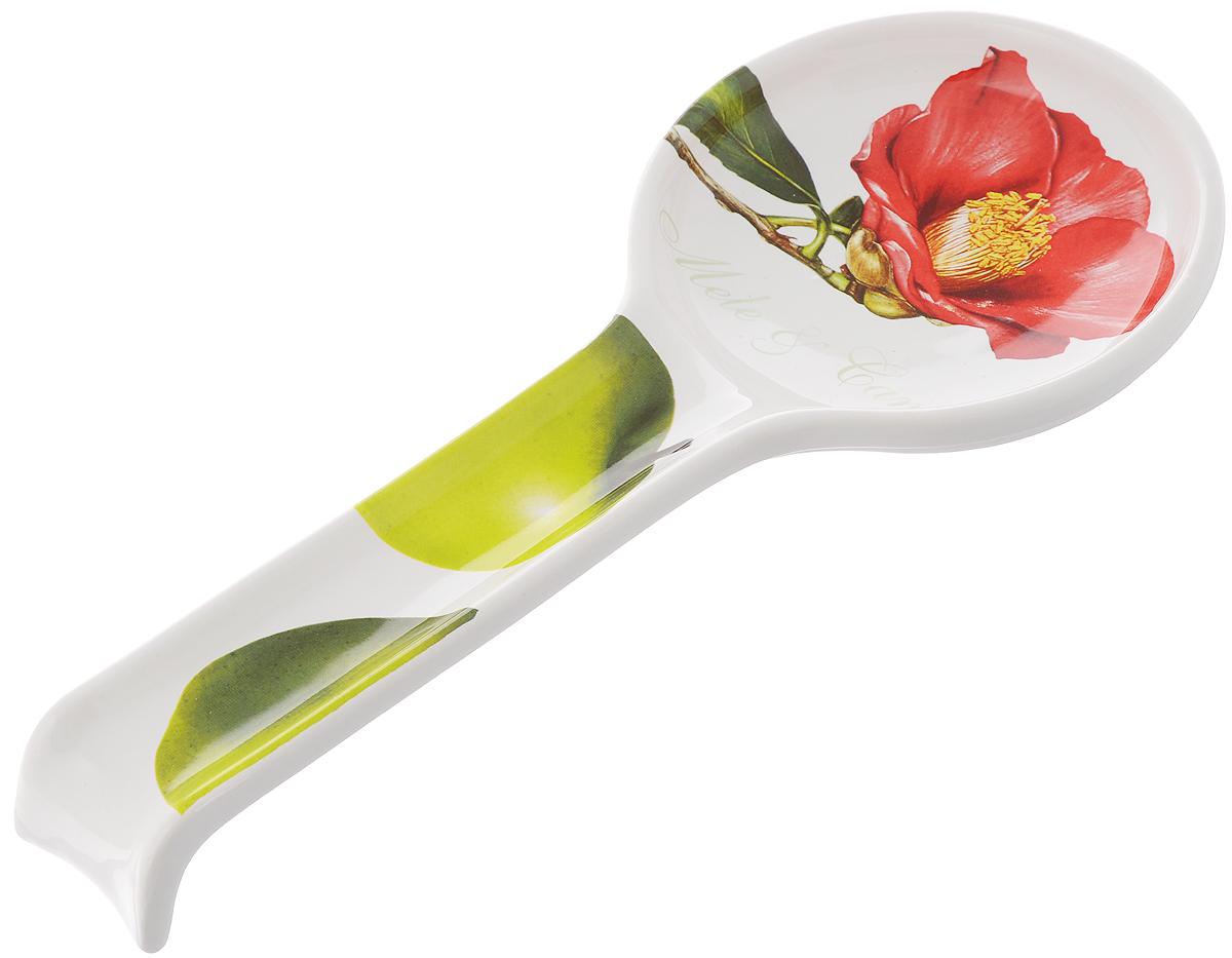 Подставка под ложку Ceramiche Viva Яблоки и камелии, длина 28 смCV2-4830-ALПодставка под ложку Ceramiche Viva Яблоки и камелии изготовлена из высококачественной керамики. Изделие декорировано красочным изображением цветов. Подставка под ложку - очень удобный и полезный аксессуар на вашей кухне. Она поможет поддерживать чистоту на столе во время готовки, теперь есть куда положить ложку, которой вы помешиваете блюда. Подставка под ложку украсит кухонный стол, а также станет замечательным подарком для ваших друзей и близких. Можно использовать в микроволновой печи. Не рекомендуется использовать в посудомоечной машине.