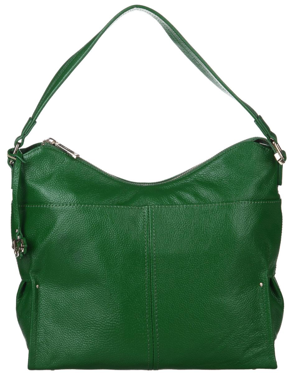 Сумка женская Labbra, цвет: зеленый. L-DA81138L-DA81138Стильная сумка Labbra, изготовлена из натуральной кожи с зернистой фактурой, оформлена оригинальной подвеской. Изделие содержит одно отделение, которое закрывается на застежку-молнию. Внутри изделия расположены два накладных кармашка для мелочей, врезной карман на молнии. Задняя сторона изделия дополнена врезным карманом на молнии. Изделие оснащено широкой лямкой, которая позволит носить сумку, как в руках, так и на плече. На дне сумки размещены металлические ножки, которые защитят дно от преждевременного изнашивания. Оригинальный аксессуар позволит вам завершить образ и быть неотразимой.