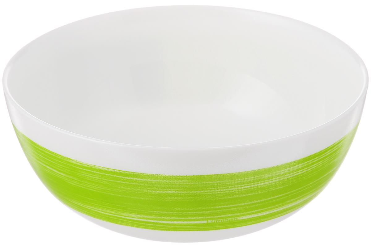 Салатник Luminarc Color Days Anis, диаметр 12,5 смL1498Великолепный круглый салатник Luminarc Color Days Anis, изготовленный из ударопрочного стекла, прекрасно подойдет для подачи различных блюд: закусок, салатов или фруктов. Такой салатник украсит ваш праздничный или обеденный стол, а оригинальное исполнение понравится любой хозяйке. Диаметр салатника (по верхнему краю): 12,5 см.