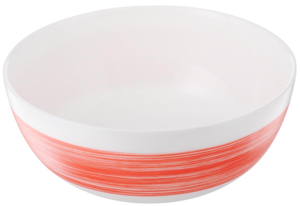 Салатник Luminarc Color Days Red, цвет: белый, красный, диаметр 12,5 смL1528Великолепный круглый салатник Luminarc Color Days, изготовленный из ударопрочного стекла, прекрасно подойдет для подачи различных блюд: закусок, салатов или фруктов. Такой салатник украсит ваш праздничный или обеденный стол, а оригинальное исполнение понравится любой хозяйке. Диаметр салатника (по верхнему краю): 12,5 см.