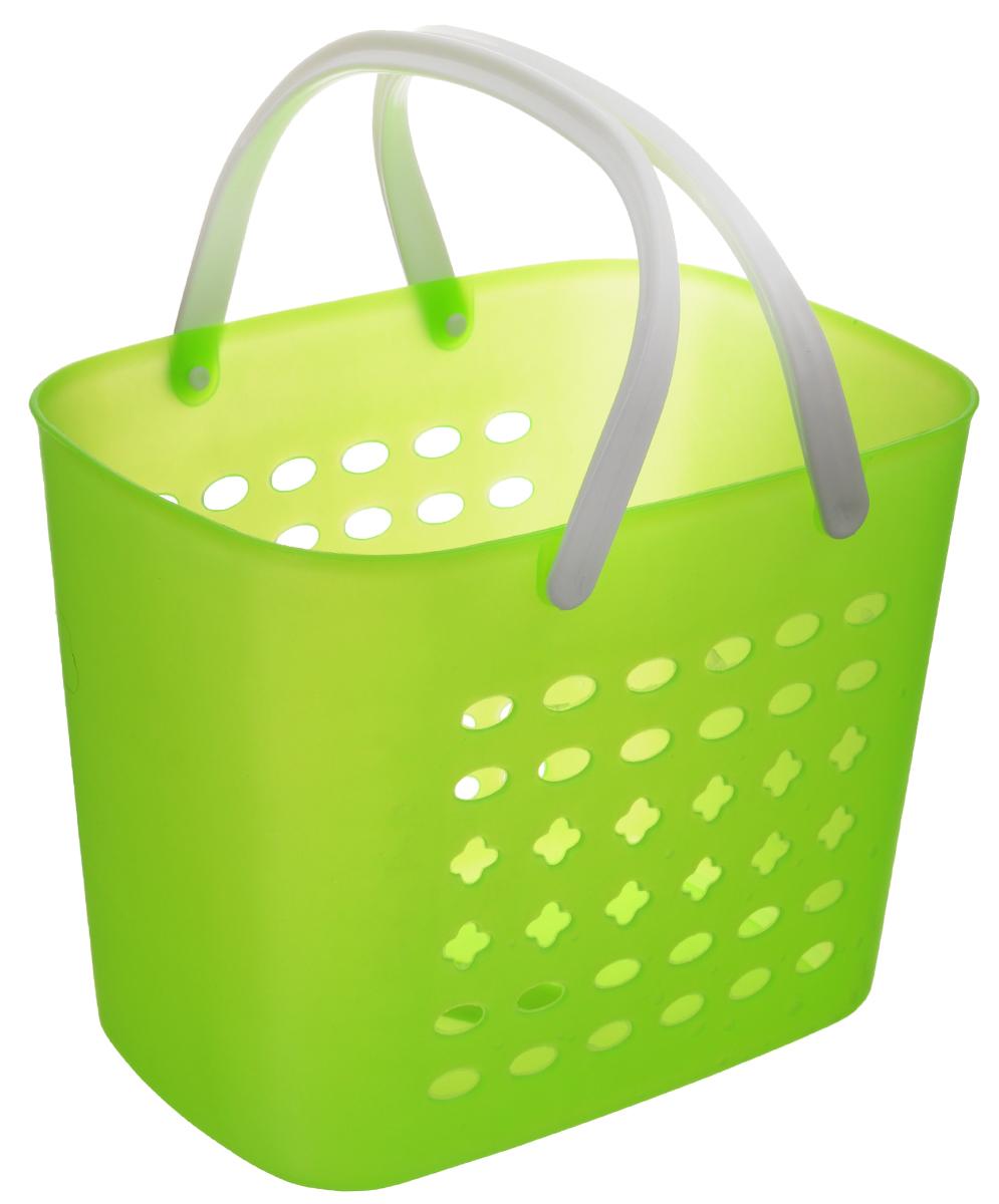 Корзина для хранения Sima-land, цвет: салатовый, 23 х 17 х 18 см799929_салатовыйПрямоугольная корзина Sima-land, изготовленная из пластика, предназначена для хранения мелочей в ванной, на кухне, даче или гараже. Корзина со сплошным дном, оснащена перфорированными стенками. Для удобства переноски корзины имеются пластиковые ручки. Элегантный выдержанный дизайн позволяет органично вписаться в ваш интерьер и стать его элементом.