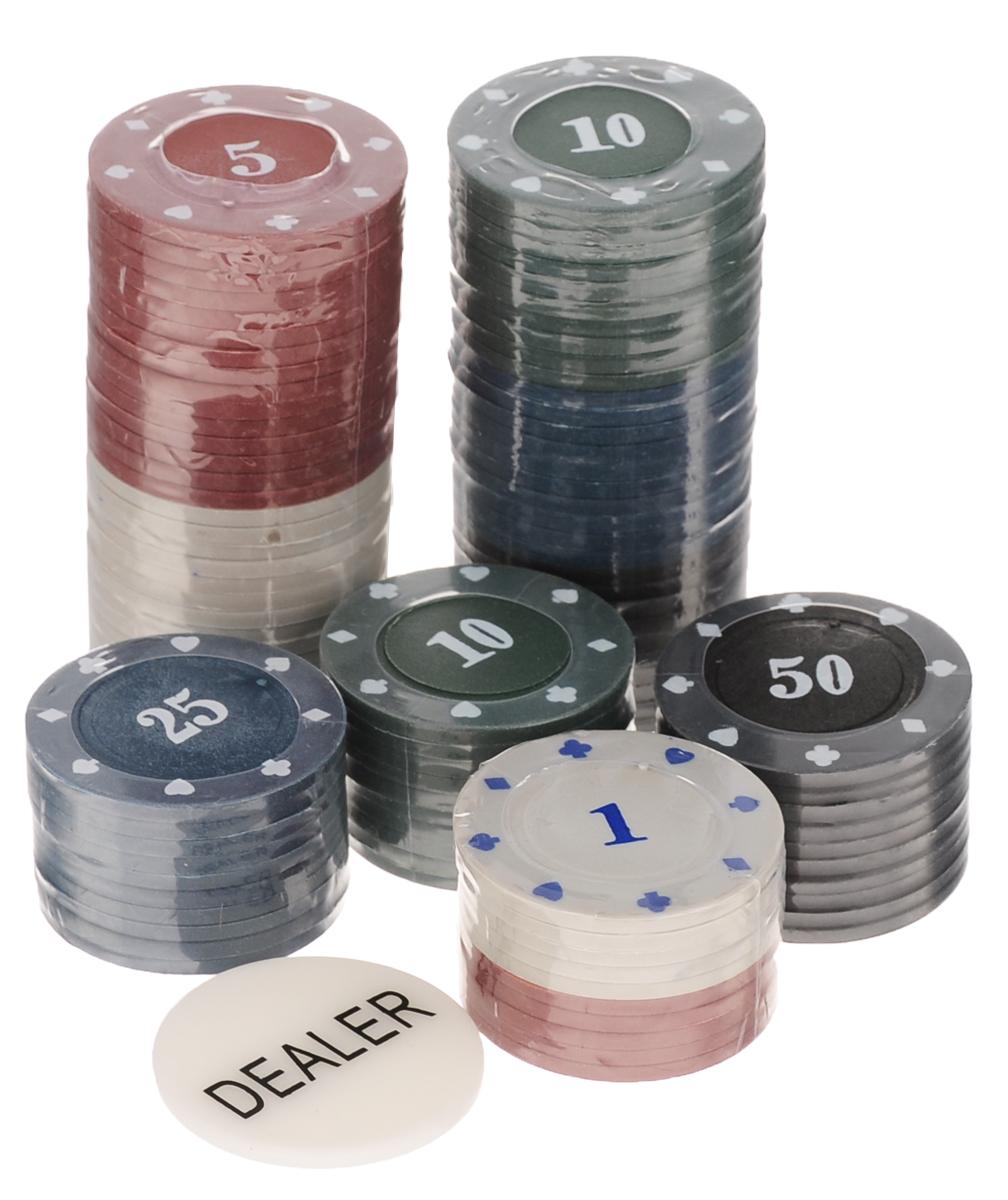 Набор для покера Русские Подарки Professional Poker Chips, 100 фишек. 4244542445Набор для игры в покер Professional Poker Chips порадует как начинающих, так и опытных игроков в покер и поможет вам разнообразить свой досуг. Набор включает в себя 100 фишек черного, синего, зеленого, белого и красного цветов с различным номиналом, а также 1 фишку Dealer. Предметы набора хранятся в металлической коробке. Такой набор станет отличным подарком для любителей покера. Подробная инструкция с правилами игры на русском языке входит в комплект. Покер (англ. poker) - карточная игра, цель которой - выиграть ставки, собрав как можно более высокую покерную комбинацию, используя 5 карт, или вынудив всех соперников прекратить участвовать в игре. Игра идет с полностью или частично закрытыми картами. Покер как карточная игра существует более 500 лет. Зародился он в Европе: в Испании, Франции, Италии. С течением времени правила покера менялись. Первые письменные упоминания о современном варианте покера появляются в 1829 году в мемуарах артиста Джо...