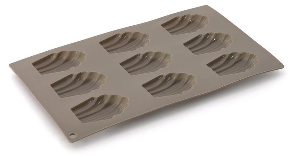 Форма для выпечки BergHOFF Studio, силиконовая, ракушки, 9 ячеек1101861В силиконовых формах торты и пирожные пекутся быстро и равномерно, а также с легкостью извлекаются, даже самые деликатные из них, так как силикон имеет удивительные антипригарные свойства. Более того, материал легко чистить в посудомоечной машине и безопасно использовать в духовке при температуре до 230 ° с. Хорошая новость для нетерпеливых и жаждущих скорей полакомиться: силикон остывает очень быстро!