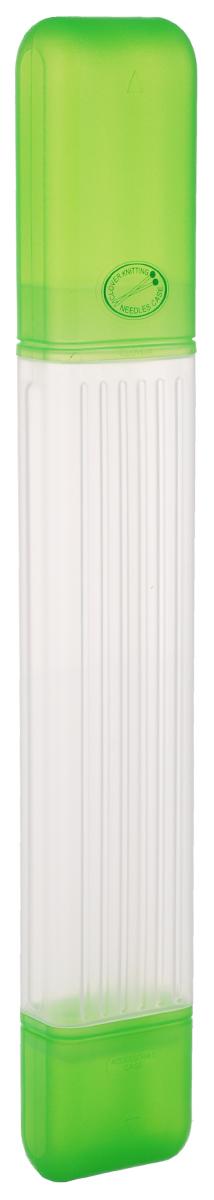 Пенал для хранения спиц Clover, цвет: зеленый, длина 40,5 см3119Удобный пенал для хранения спиц Clover выполнен из пластика и предназначен для спиц длиной до 35 см. Имеется дополнительный отсек для хранения наконечников, маркеров и других небольших аксессуаров для вязания. Размер дополнительного отсека: 6 х 4,5 х 6 см