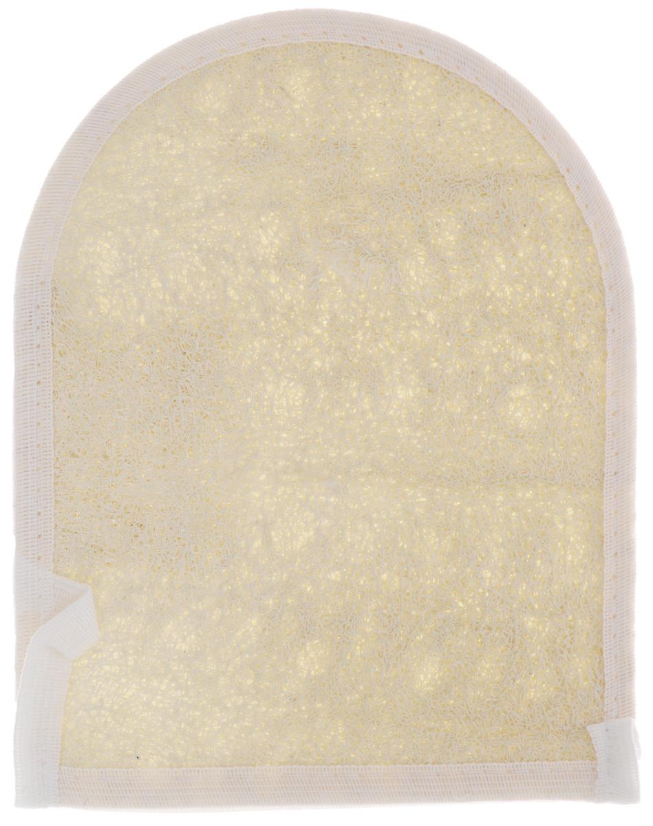 Мочалка Eva Рукавица, из люфы, цвет: белый, бежевый, 15,5 х 19 смМ08_бежевыйМочалка Eva Рукавица станет незаменимым аксессуаром ванной комнаты. Мочалка отлично пенится и быстро сохнет. Одна сторона мочалки изготовлена из плодов люфы и сохраняет все ценные свойства этого растения. Другая - из мягкого хлопка. Мочалка со средним уровнем жесткости обладает массажным эффектом, она эффективно тонизирует и очищает кожу. Идеальна для профилактики и борьбы с целлюлитом. Подходит для всех типов кожи. Не вызывает аллергии.