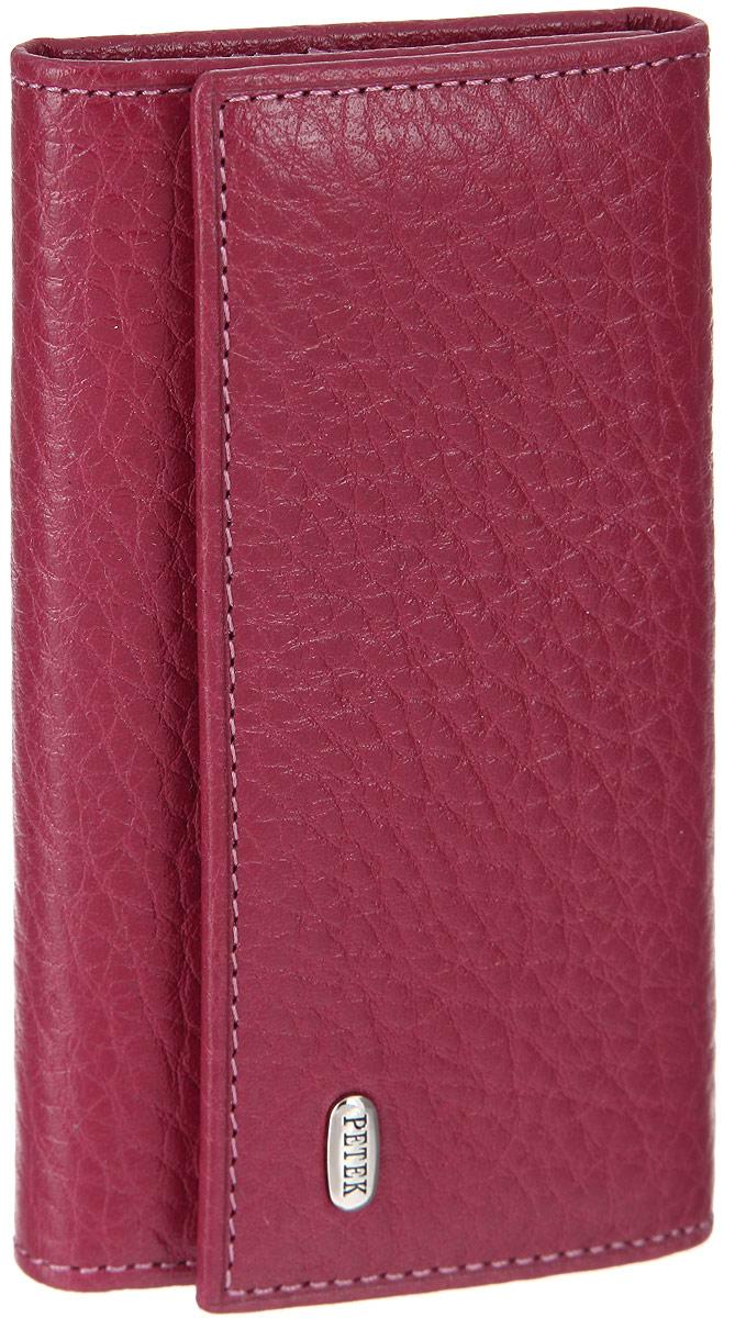 Ключница женская Petek 1855, цвет: малиновый. 518.46B. 44