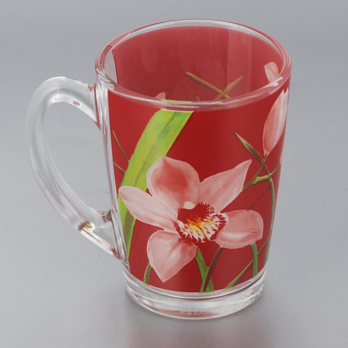 Кружка Luminarc Red Orchis, 320 млG0667Кружка Luminarc Red Orchis изготовлена из упрочненного стекла. Такая кружка прекрасно подойдет для горячих и холодных напитков. Она дополнит коллекцию вашей кухонной посуды и будет служить долгие годы. Диаметр кружки (по верхнему краю): 8 см.