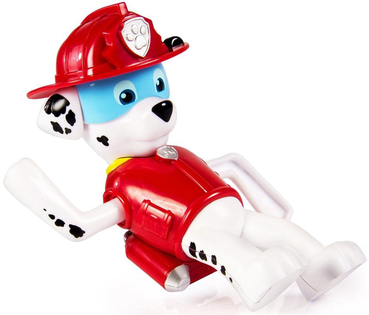 Paw Patrol Игрушка для ванной заводная Marshall16631_МаршаллИгрушка для ванной Paw Patrol Marshall понравится вашему ребенку и развлечет его во время купания. Она выполнена из безопасного материала в виде героя мультсериала Щенячий патруль. На спине игрушки находится ключик, с помощью которого можно завести механизм игрушки. Опустите игрушку в воду, и она будет плыть, забавно гребя передними лапками. Игрушка для ванной способствует развитию воображения, цветового восприятия, тактильных ощущений и мелкой моторики рук.