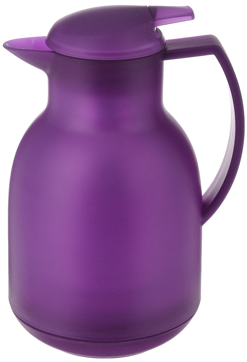 Чайник-термос Leifheit Bolero, цвет: фиолетовый, 1 л28344Чайник-термос Leifheit Bolero имеет корпус, выполненный из высококачественного пластика. Двустенная вакуумная изолирующая стеклянная колба гарантирует наилучшую температурную изоляцию и сохраняет горячие напитки теплыми более 12 часов, а холодные напитки прохладными до 24 часов. Благодаря практичной нажимной клавише чайник очень прост и удобен в обращении. Открыть-налить-закрыть - все одной рукой. Диаметр по верхнему краю: 8,3 см. Диаметр дна: 10 см. Высота изделия (с учетом крышки): 25 см.