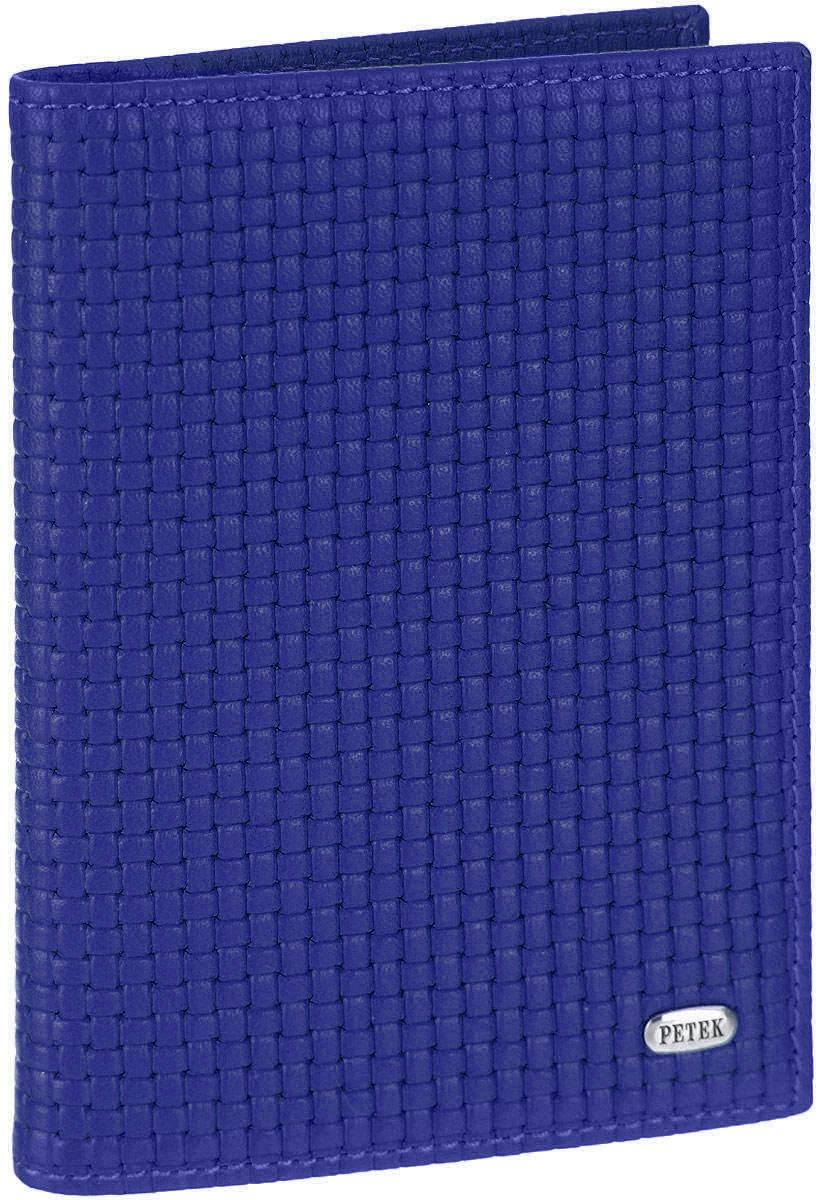 Обложка для автодокументов Petek 1855, цвет: ярко-синий. 584.020.81584.020.81 Royal BlueОбложка для автодокументов Petek изготовлена из натуральной кожи с оригинальным фактурным тиснением, оформлена металлической фурнитурой с символикой бренда. Изделие раскладывается пополам. Внутри расположены четыре прорезных кармана для кредитных карт, сетчатый кармашек, потайной кармашек, вкладыш для автодокументов, состоящий из шести файлов, один из которых формата А5. Изделие поставляется в фирменной упаковке. Обложка для автодокументов поможет сохранить внешний вид ваших документов и защитить их от повреждений, а также станет стильным аксессуаром.