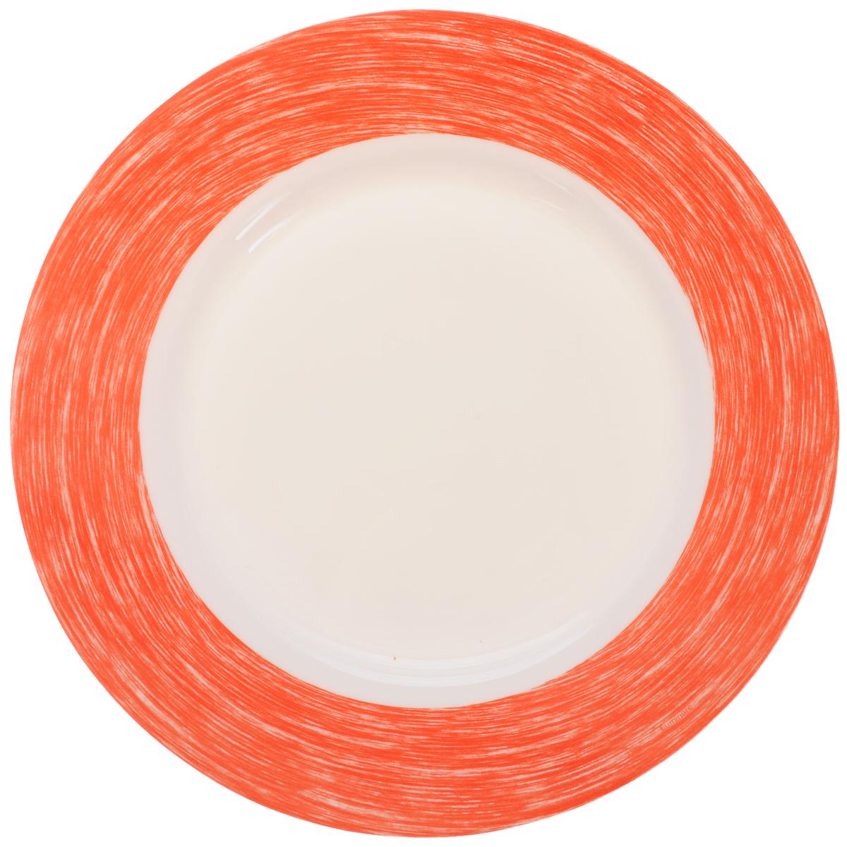 Тарелка обеденная Luminarc Color Days Red, диаметр 24 смL1525Обеденная тарелка Luminarc Color Days Red, изготовленная из высококачественного стекла, имеет изысканный внешний вид. Яркий дизайн придется по вкусу и ценителям классики, и тем, кто предпочитает утонченность. Тарелка Luminarc Color Days Red идеально подойдет для сервировки стола и станет отличным подарком к любому празднику. Диаметр (по верхнему краю): 24 см.