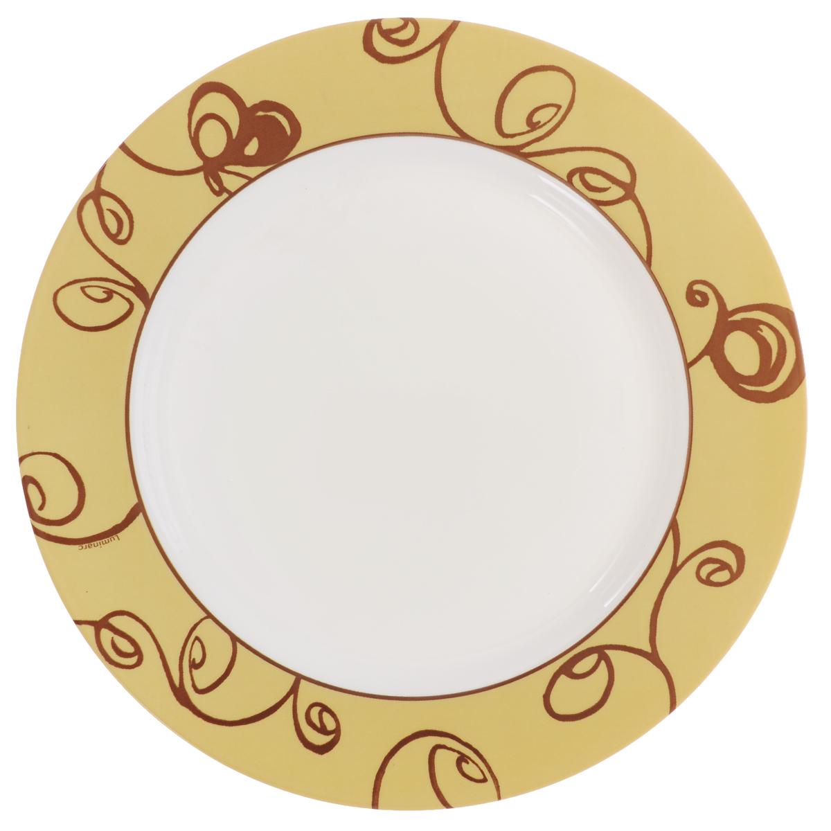 Тарелка обеденная Luminarc Brittany Moka, диаметр 26,5 смJ2538Обеденная тарелка Luminarc Brittany Moka, изготовленная из высококачественного стекла, имеет изысканный внешний вид. Яркий дизайн придется по вкусу и ценителям классики, и тем, кто предпочитает утонченность. Тарелка Luminarc Brittany Moka идеально подойдет для сервировки стола и станет отличным подарком к любому празднику. Диаметр (по верхнему краю): 26,5 см.