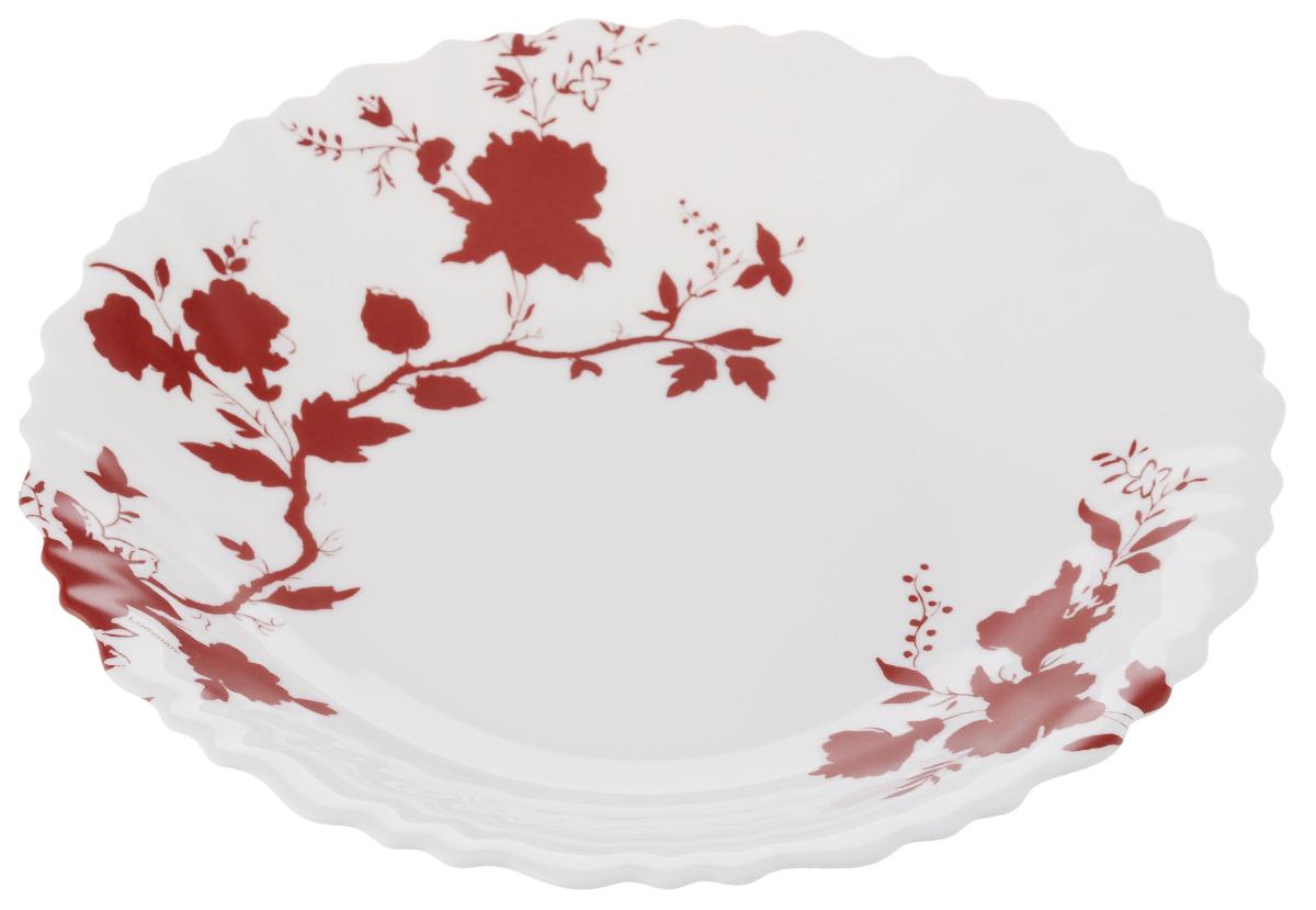 Тарелка обеденная Luminarc Enora, диаметр 25 смL1814Обеденная тарелка Luminarc Enora, изготовленная из высококачественного стекла, имеет изысканный внешний вид. Яркий дизайн придется по вкусу и ценителям классики, и тем, кто предпочитает утонченность. Тарелка Luminarc Enora идеально подойдет для сервировки стола и станет отличным подарком к любому празднику. Диаметр (по верхнему краю): 25 см.