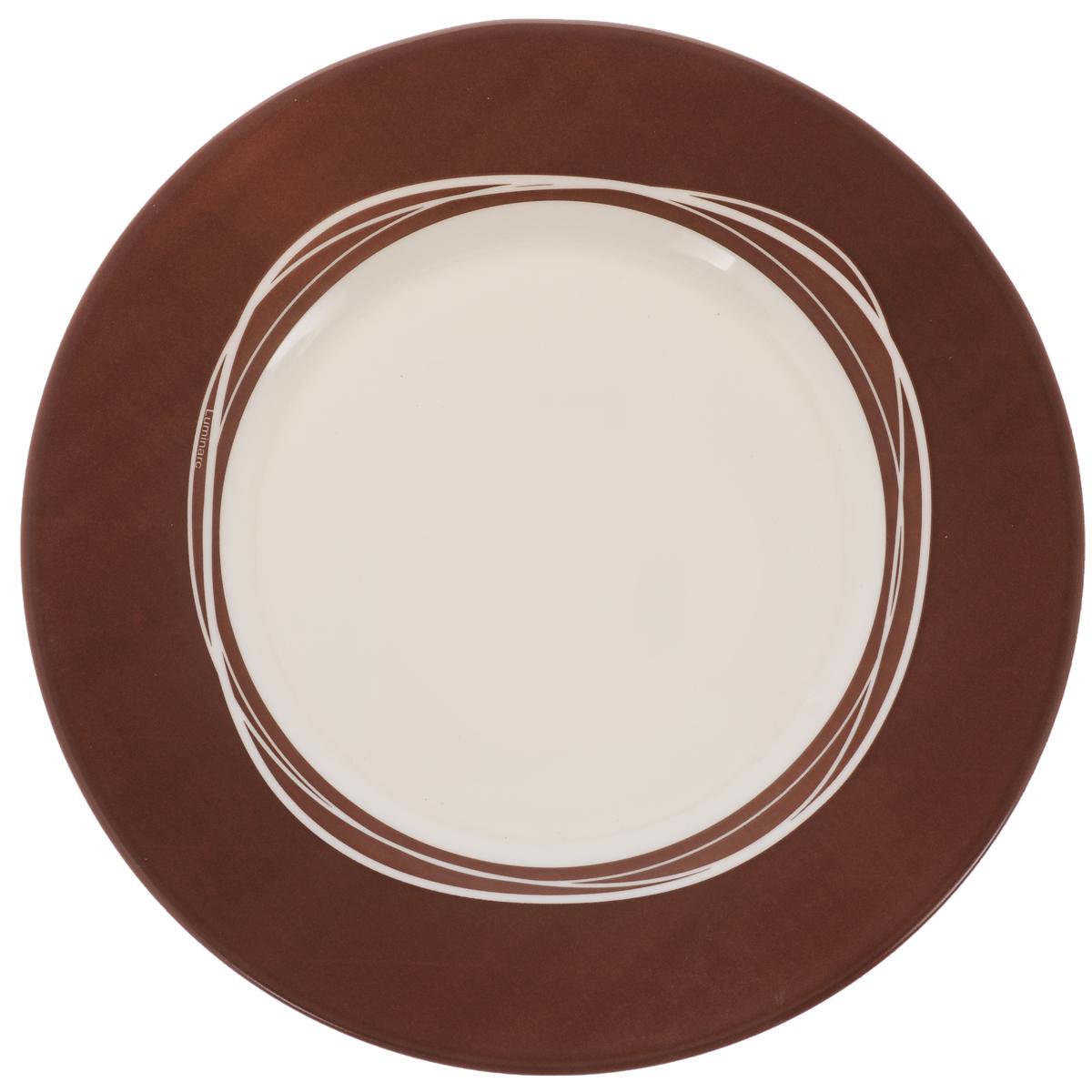 Тарелка десертная Luminarc Raffia Broun, диаметр 21 смJ2347Десертная тарелка Luminarc Raffia Broun, изготовленная из ударопрочного стекла, имеет изысканный внешний вид. Такая тарелка прекрасно подходит как для торжественных случаев, так и для повседневного использования. Идеальна для подачи десертов, пирожных, тортов и многого другого. Она прекрасно оформит стол и станет отличным дополнением к вашей коллекции кухонной посуды. Диаметр тарелки (по верхнему краю): 21 см.