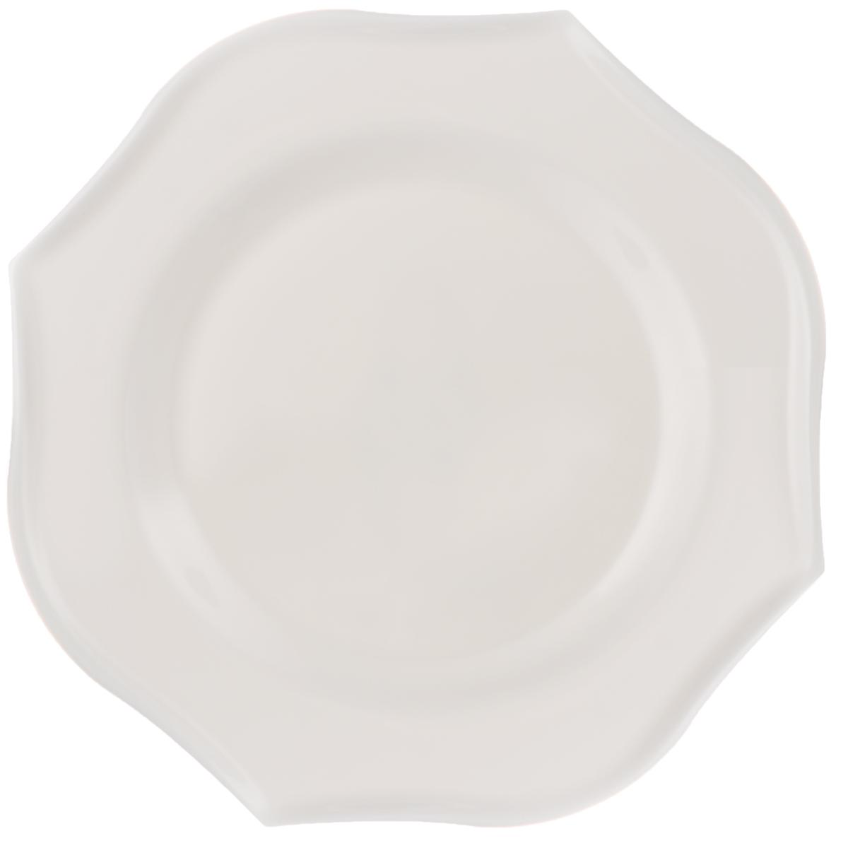Тарелка десертная Luminarc Louisa, 21 х 21 смJ1745Десертная тарелка Luminarc Louisa, изготовленная из ударопрочного стекла, имеет изысканный внешний вид. Такая тарелка прекрасно подходит как для торжественных случаев, так и для повседневного использования. Идеальна для подачи десертов, пирожных, тортов и многого другого. Она прекрасно оформит стол и станет отличным дополнением к вашей коллекции кухонной посуды. Размер тарелки (по верхнему краю): 21 х 21 см.
