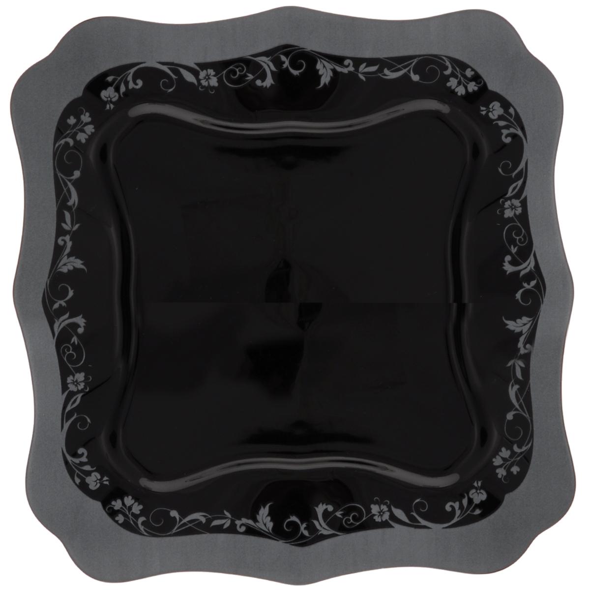 Тарелка обеденная Luminarc Authentic Silver Black, 26 х 26 смH8396Обеденная тарелка Luminarc Authentic Silver Black, изготовленная из высококачественного стекла, имеет изысканный внешний вид. Яркий дизайн придется по вкусу и ценителям классики, и тем, кто предпочитает утонченность. Тарелка Luminarc Authentic Silver Black идеально подойдет для сервировки стола и станет отличным подарком к любому празднику. Размер тарелки (по верхнему краю): 26 х 26 см.