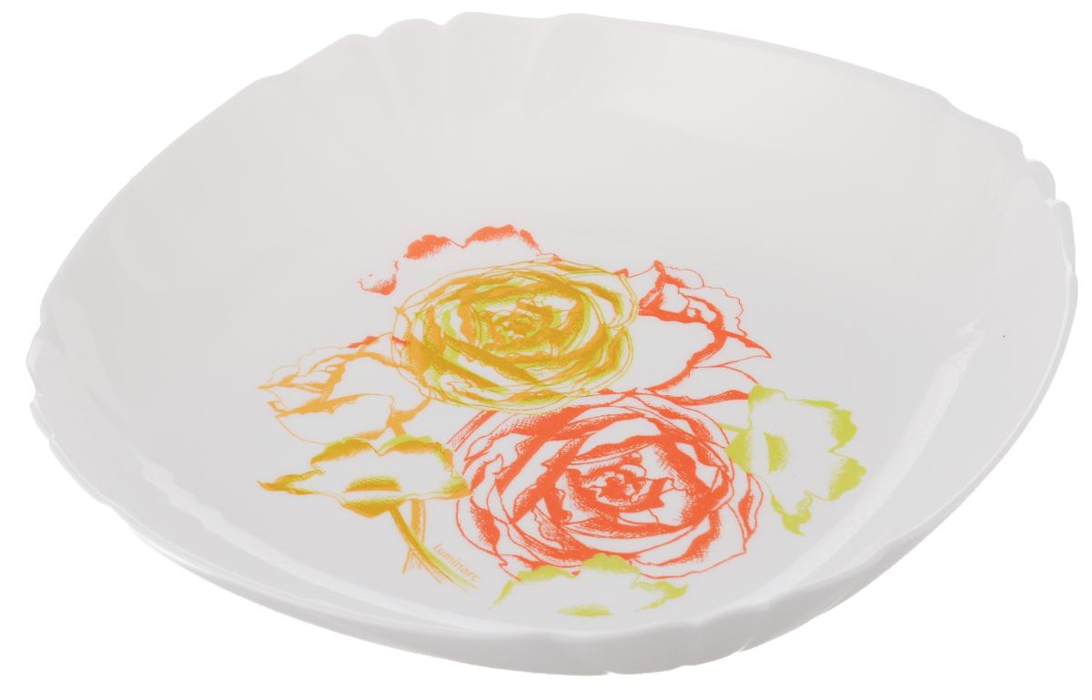Тарелка глубокая Luminarc Amaria, диаметр 21 смJ1890Глубокая тарелка Luminarc Amaria выполнена из ударопрочного стекла и оформлена в классическом стиле. Изделие сочетает в себе изысканный дизайн с максимальной функциональностью. Она прекрасно впишется в интерьер вашей кухни и станет достойным дополнением к кухонному инвентарю. Тарелка Luminarc Amaria подчеркнет прекрасный вкус хозяйки и станет отличным подарком. Диаметр (по верхнему краю): 21 см. Объем тарелки: 450 мл (до самого края).