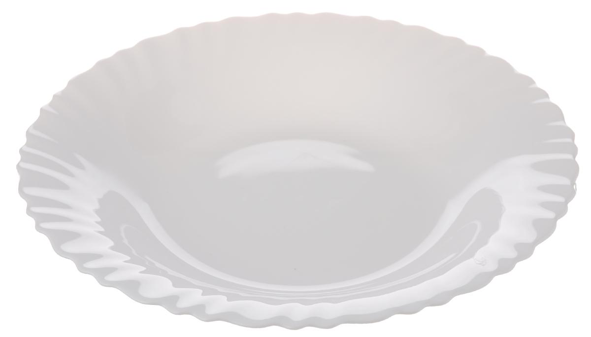 Тарелка глубокая Luminarc Feston, диаметр 23 смH4991Глубокая тарелка Luminarc Feston выполнена из ударопрочного стекла и имеет классическую круглую форму. Она прекрасно впишется в интерьер вашей кухни и станет достойным дополнением к кухонному инвентарю. Тарелка Luminarc Feston подчеркнет прекрасный вкус хозяйки и станет отличным подарком. Диаметр тарелки (по верхнему краю): 23 см.