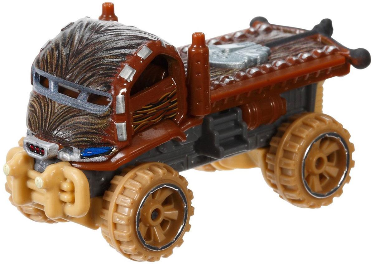 Hot Wheels Star Wars Машинка ChewbaccaCGW35_DTB06Машинка Hot Wheels Star Wars. Chewbacca непременно приведет в восторг вашего малыша. Игрушка изготовлена из высококачественного пластика с элементами из металла в стиле одного из любимых персонажей легендарной саги Звездные воины. Колесики машинки вращаются. Ваш ребенок будет часами играть с этой машинкой, придумывая различные истории. Порадуйте его таким замечательным подарком.