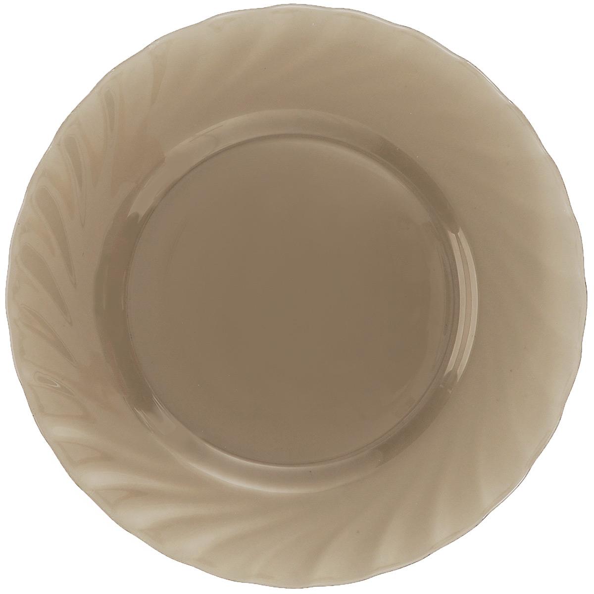 Тарелка обеденная Luminarc Ocean Eclipse, диаметр 24,5 смH0244Обеденная тарелка Luminarc Ocean Eclipse, изготовленная из высококачественного стекла, имеет изысканный внешний вид. Яркий дизайн придется по вкусу и ценителям классики, и тем, кто предпочитает утонченность. Тарелка Luminarc Ocean Eclipse идеально подойдет для сервировки стола и станет отличным подарком к любому празднику. Диаметр (по верхнему краю): 24,5 см.