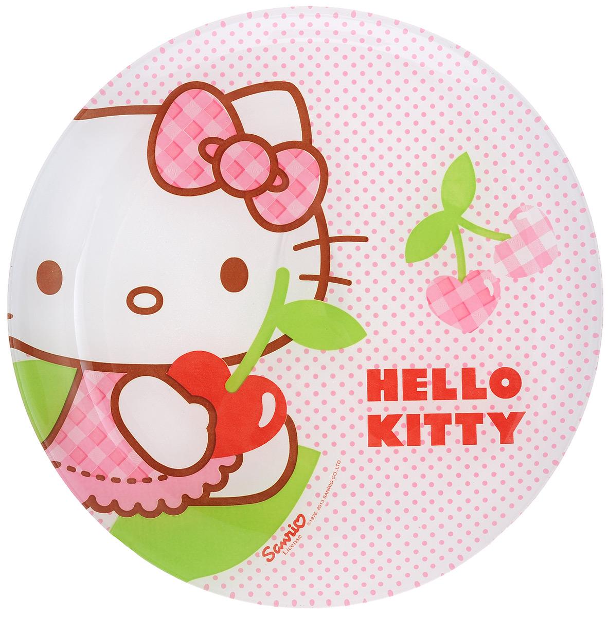 Тарелка десертная Luminarc Hello Kitty Cherries, диаметр 20,5 смJ0023Десертная тарелка Luminarc Hello Kitty Cherries, изготовленная из ударопрочного стекла, имеет изысканный внешний вид. Такая тарелка прекрасно подходит как для торжественных случаев, так и для повседневного использования. Идеальна для подачи десертов, пирожных, тортов и многого другого. Она прекрасно оформит стол и станет отличным дополнением к вашей коллекции кухонной посуды. Диаметр тарелки (по верхнему краю): 20,5 см.