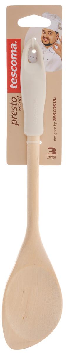 Ложка кулинарная Tescoma Presto Wood, с углом, цвет: светло-серый, длина 30 см637212_серыйЛожка Tescoma Presto Wood изготовлена из экологически чистого материала - качественной березовой древесины, обладающей уникальной текстурой. Элегантная ручка имеет противоскользящую обработку, что дает возможность удобно и комфортно пользоваться ложкой. Такая кухонная принадлежность подходит для всех видов посуды, а также замечательно для посуды с антипригарным покрытием. Ложка Tescoma Presto Wood станет вашим незаменимым помощником на кухне, а также это практичный и необходимый подарок любой хозяйке! Нельзя мыть в посудомоечной машине. Размер рабочей поверхности: 5,6 х 8 см. Общая длина ложки: 30 см.