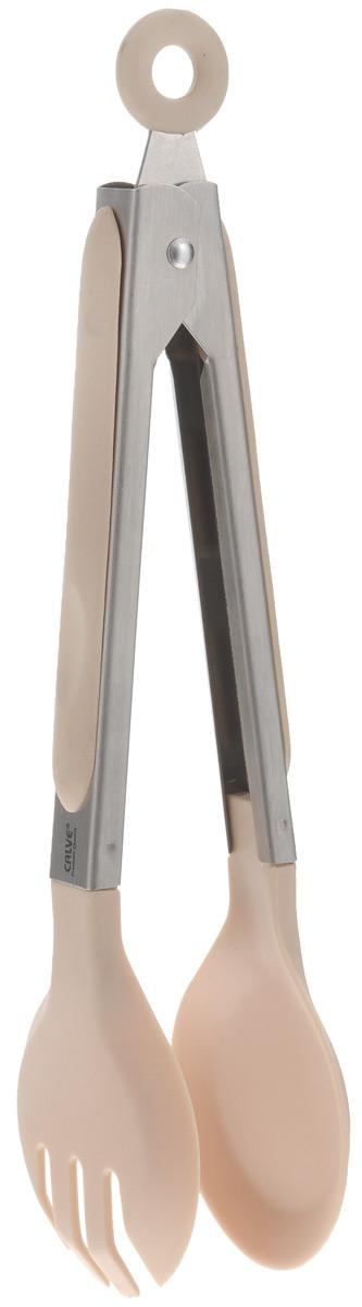 Щипцы сервировочные Calve, длина 23 см. CL-4638CL-4638_бежевыйСервировочные щипцы Calve, выполненные из нержавеющей стали и нейлона, оснащены специальным отверстием для подвешивания и снабжены резиновыми вставками для удобного и надежного хвата. Ими удобно сервировать тарелку приготовленными продуктами. Изделие безопасно для посуды с антипригарным покрытием. Такой кухонный аксессуар создаст комфорт не только вашим гостям, но и вам. Высококачественные материалы изделия способствует длительному использованию. Можно мыть в посудомоечной машине. Длина щипцов (без учета петельки): 23 см.