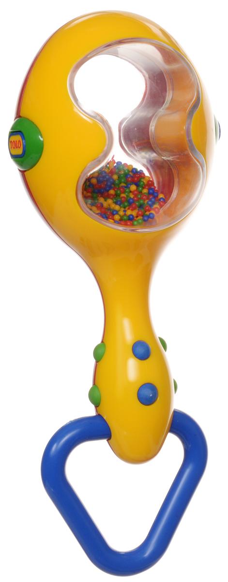 Tolo Музыкальный инструмент Маракас цвет красный синий желтый89655_красный, синийЯркий пестрый маракас может выступать в качестве погремушки, а также он прекрасно подойдет для занятий музыкальным творчеством. При потряхивании, маракас издает характерный гремящий звук. Маракас изготовлен из высококачественного пластика с удобной нескользящей ручкой. Через прозрачные окошки маракаса видно, как при потряхивании внутри перекатываются множество цветных мелких шариков. Игрушка дополнена удобным кольцом-держателем. Маракас помогает малышам развить чувство ритма, музыкальный слух, творческое мышление и воображение, а также способствует самовыражению.